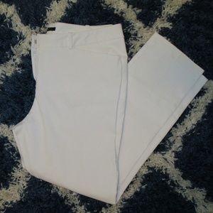 Worthington Slim Fit White Crop Slacks Size 10